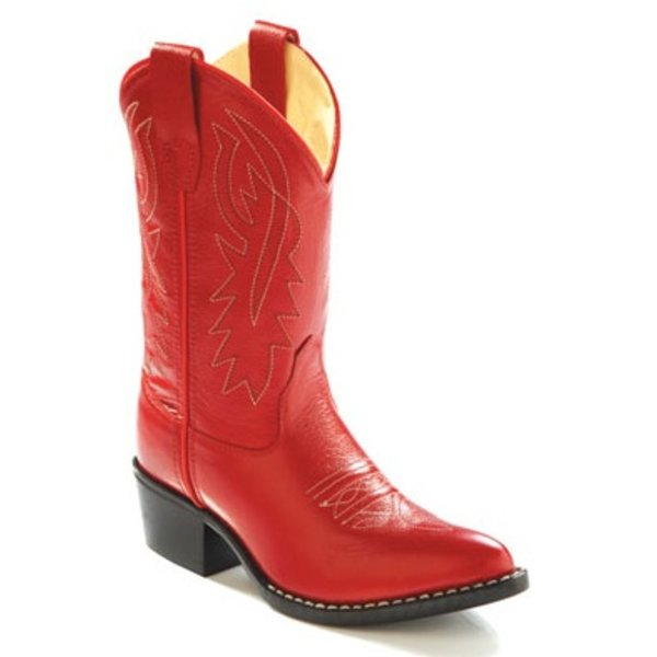 Children's Old West Red Round Toe Boot