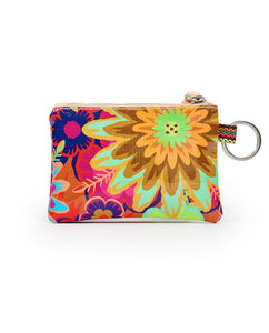 Trista Busy Floral Teeny Pouch