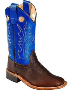 Children's Old West Blue/Brown Cowboys Boots