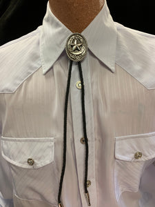 Oval Horse Shoe & Star  Bolo Tie