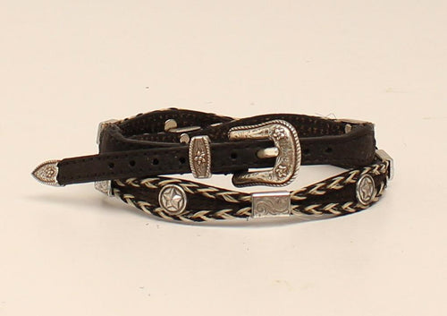 Horse Hair Hat Band w/ Silver Accents