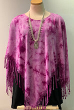 Load image into Gallery viewer, Tie Dye Fringed Ponchos