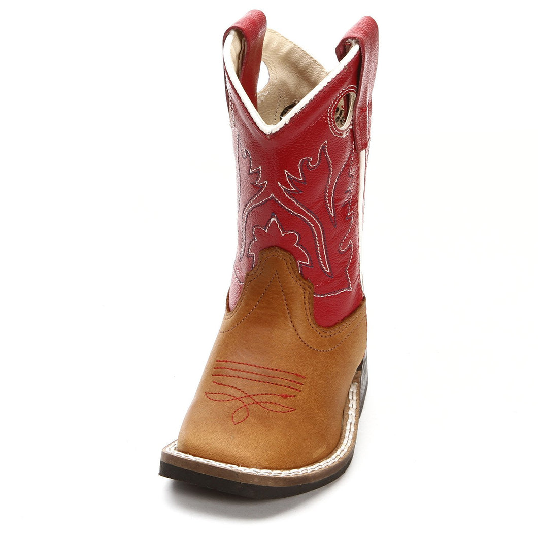 Old West Red/Tan Toddler Boot