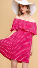 Load image into Gallery viewer, Polka dot Hot Pink Dress