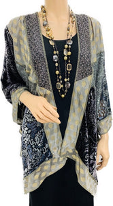 Fantasy Burnout Velvet & Sequence Brocade Butterfly Jacket