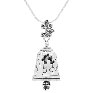 "Autism Bell Pendant with 22""Sterling Silver chain"