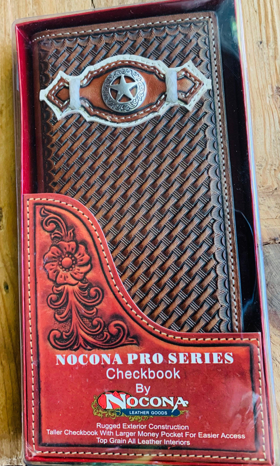 Nocona Pro Series Rodeo Wallet & Checkbook w/ Star