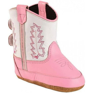 Old West Infant Pink Cowgirl Boot