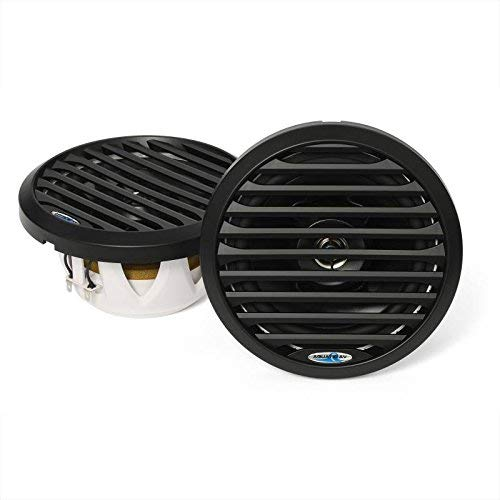 "Aquatic AV PR 6.5"" Pro-Series Black Marine Speaker 100W MAX, 50W RMS Black AQ-SPK6.5-4LB"