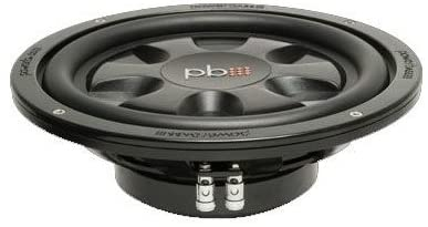 Powerbass 10-Inch Dual 4 Ohm Thin Subwoofer