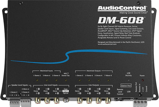 AudioControl DM-608 6 by 8 Channel Matrix Digital Signal Processor
