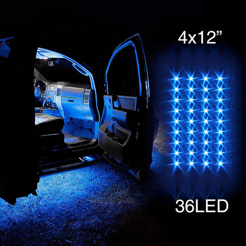 4pcs 36 LED 6 COLORS AVAILABLE Waterproof Three Mode Neon Accent light Kit for Car Interior Trunk Truck Bed Bush Fender
