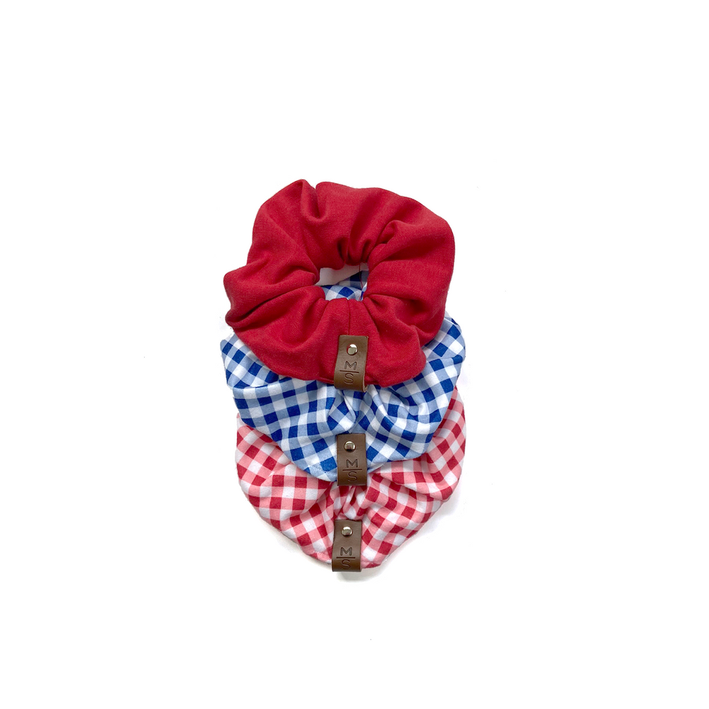 Scrunchies - Red + Blue
