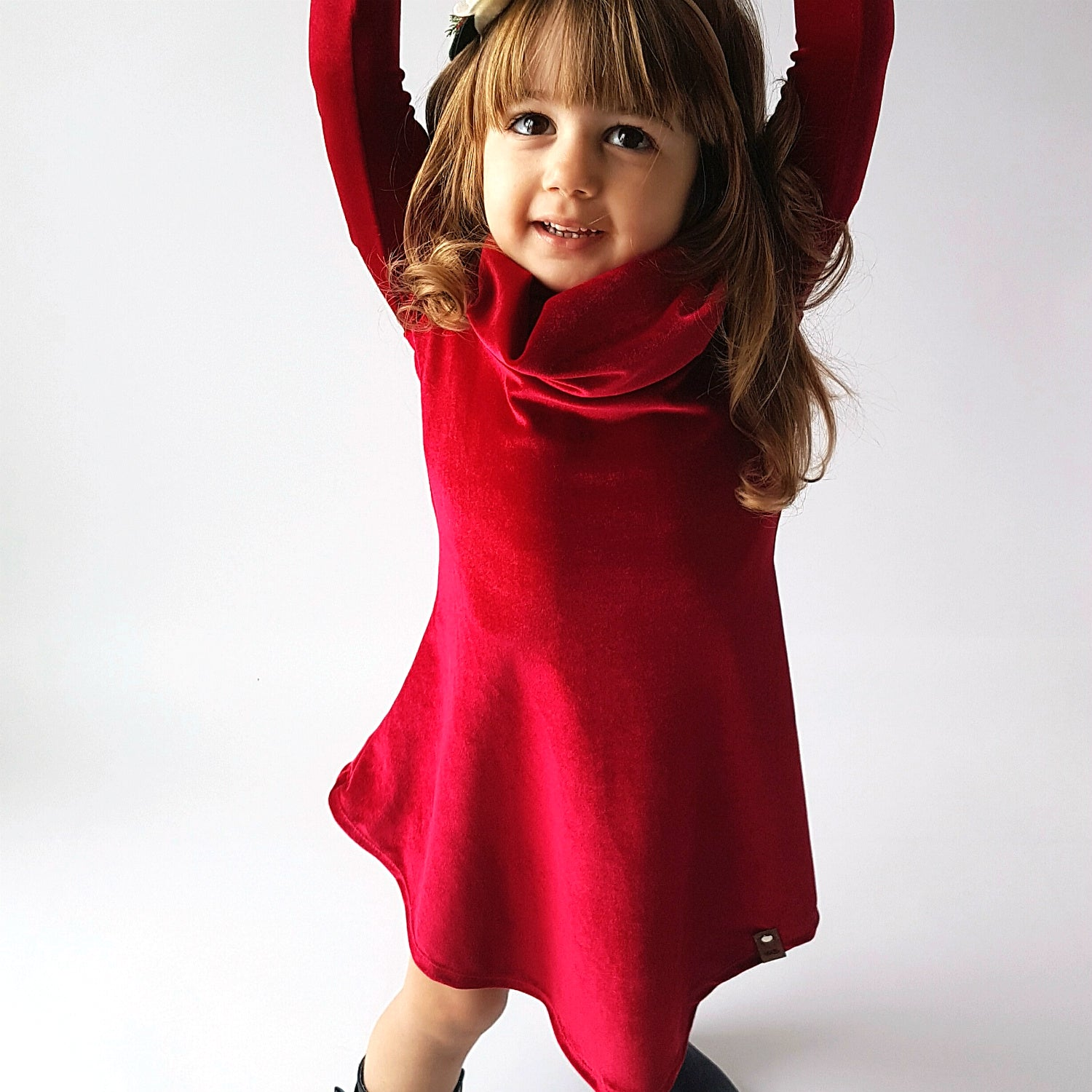Avery Cowl Dress - Red Velvet