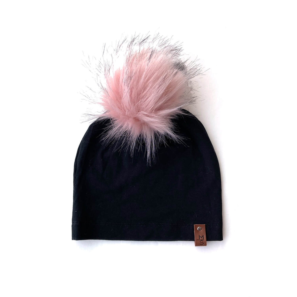 Slouchy Beanie -  Limited Edition Pink Pom