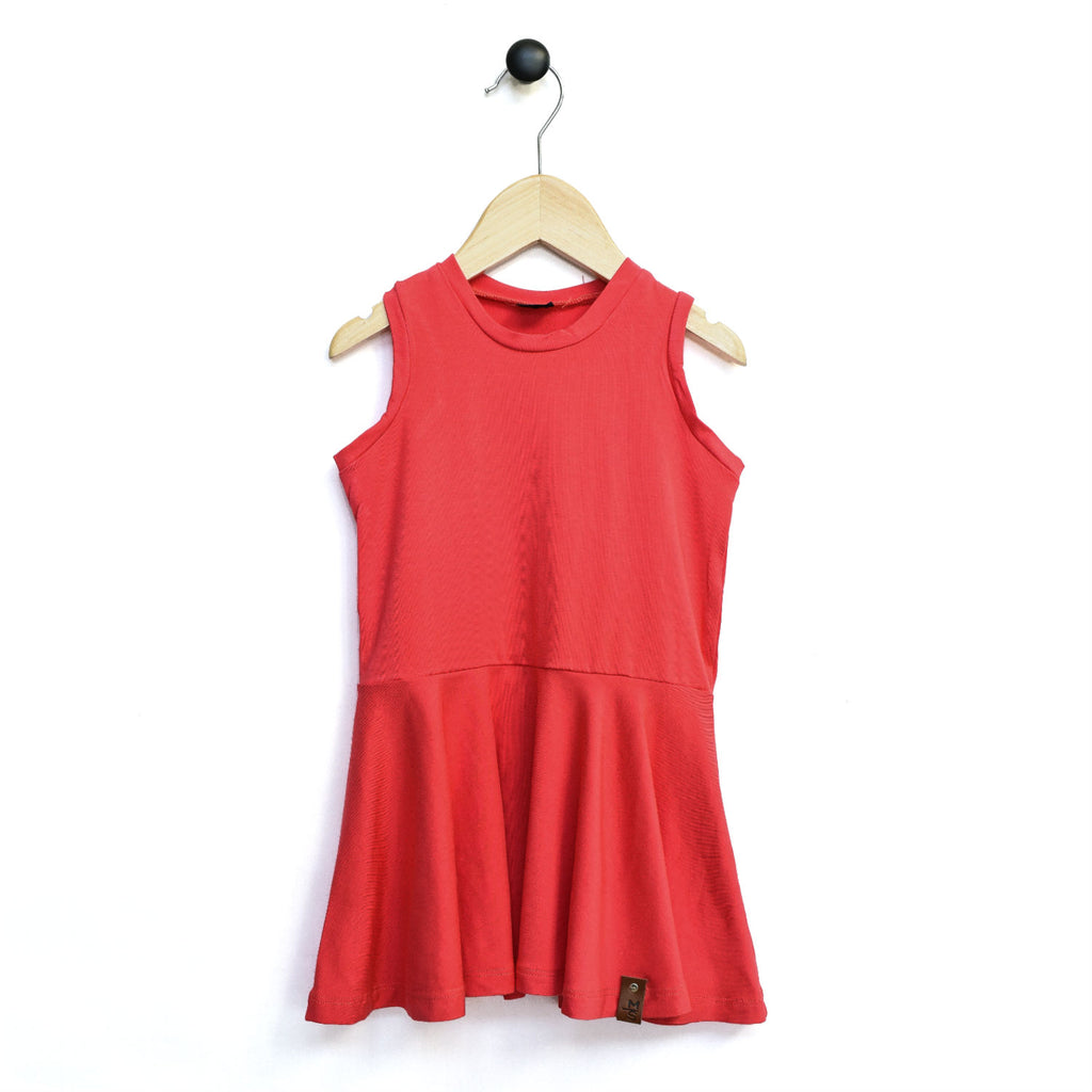 Bella Tank Twirl Dress - Coral