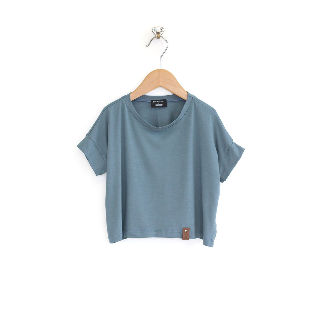 Blaire Crop Top - Slate Blue