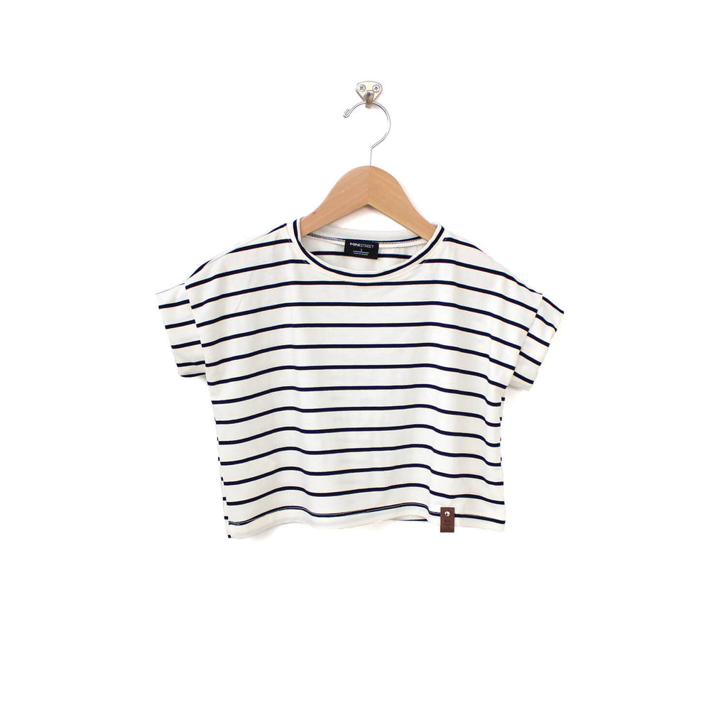 Blaire Crop Top - White Stripe