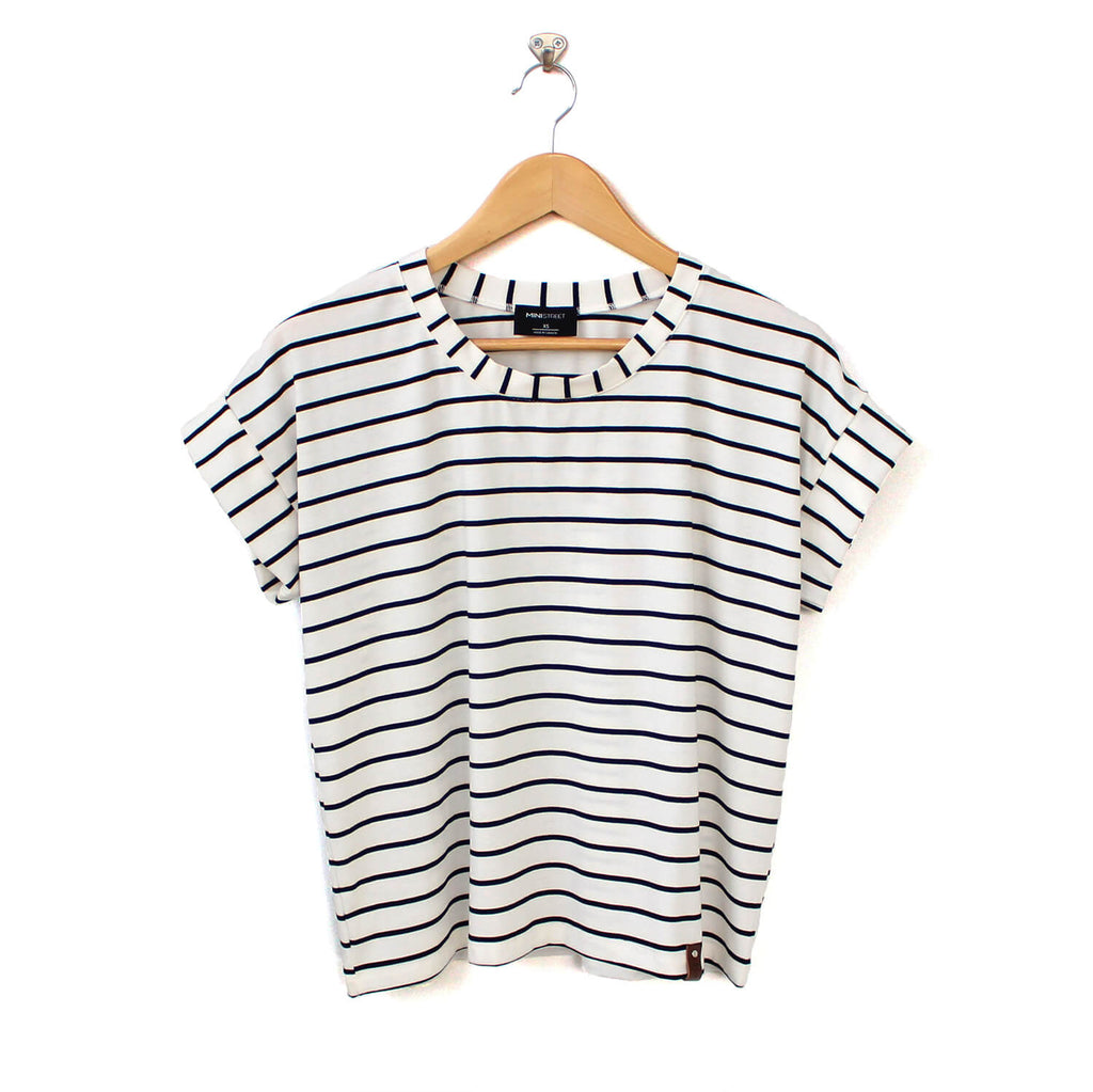 Blaire Women's Top - White Stripe
