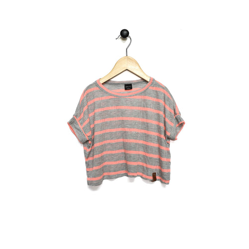 Blaire Crop Top - Coral Grey