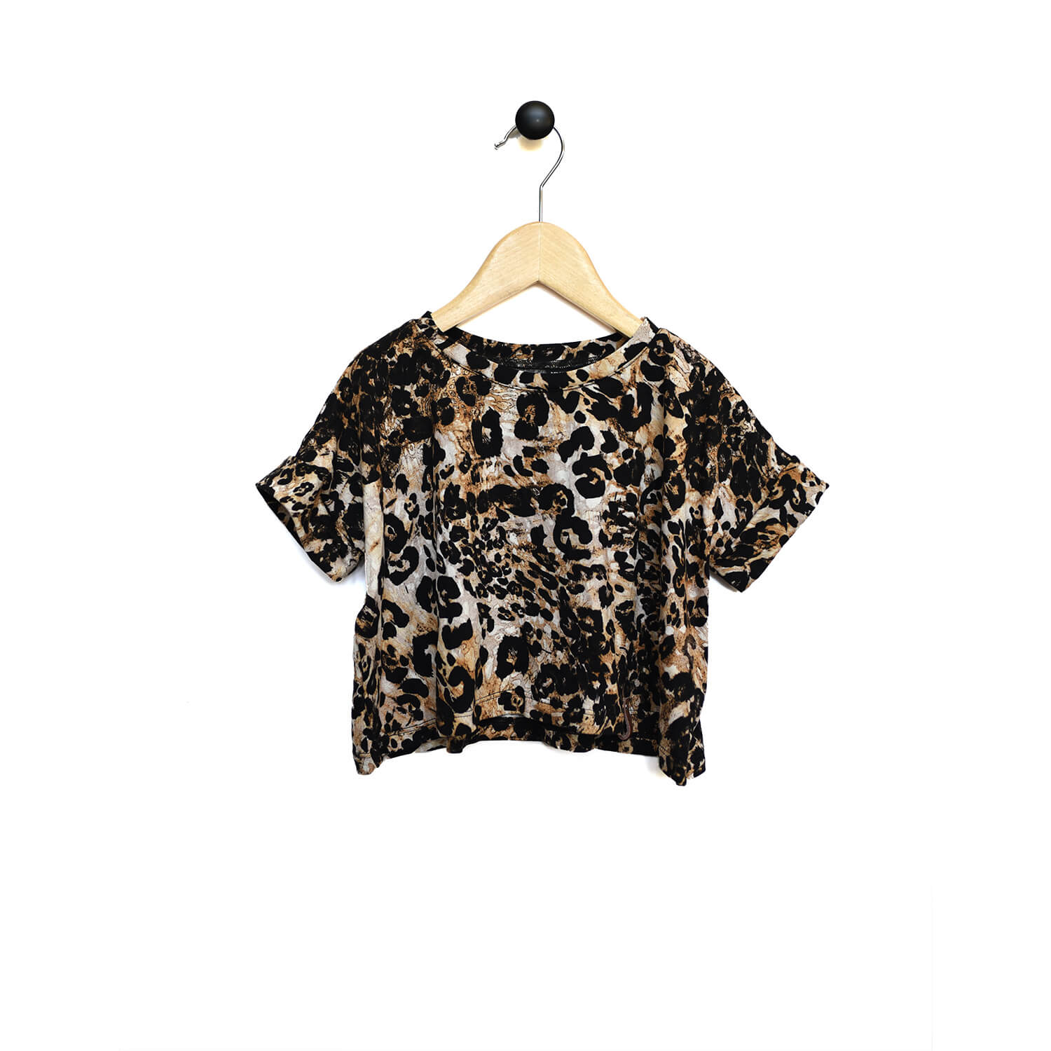 Blaire Crop Top - Leopard