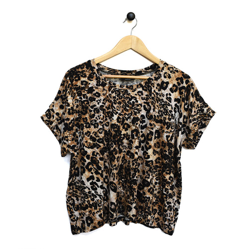 Blaire Women's Top - Leopard