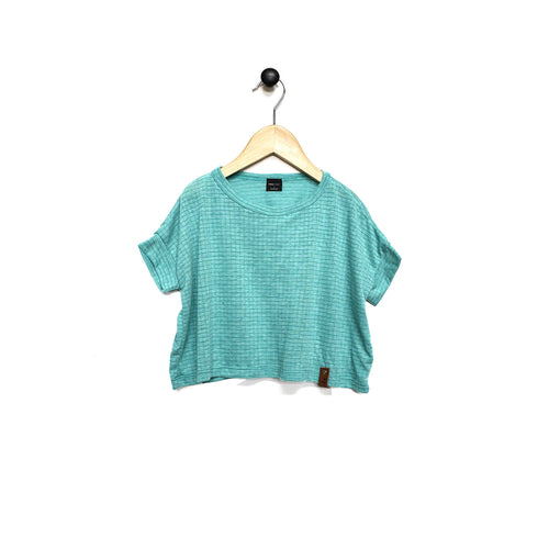 Blaire Crop Top - Ribbed Teal