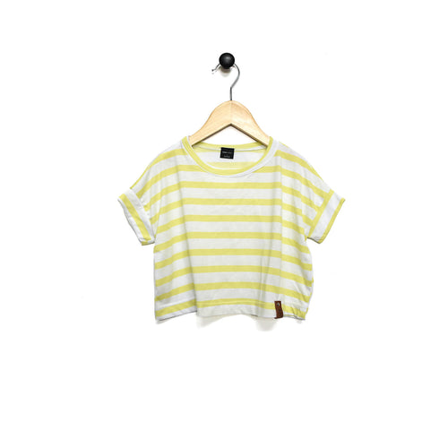 Blaire Crop Top - Yellow Stripe