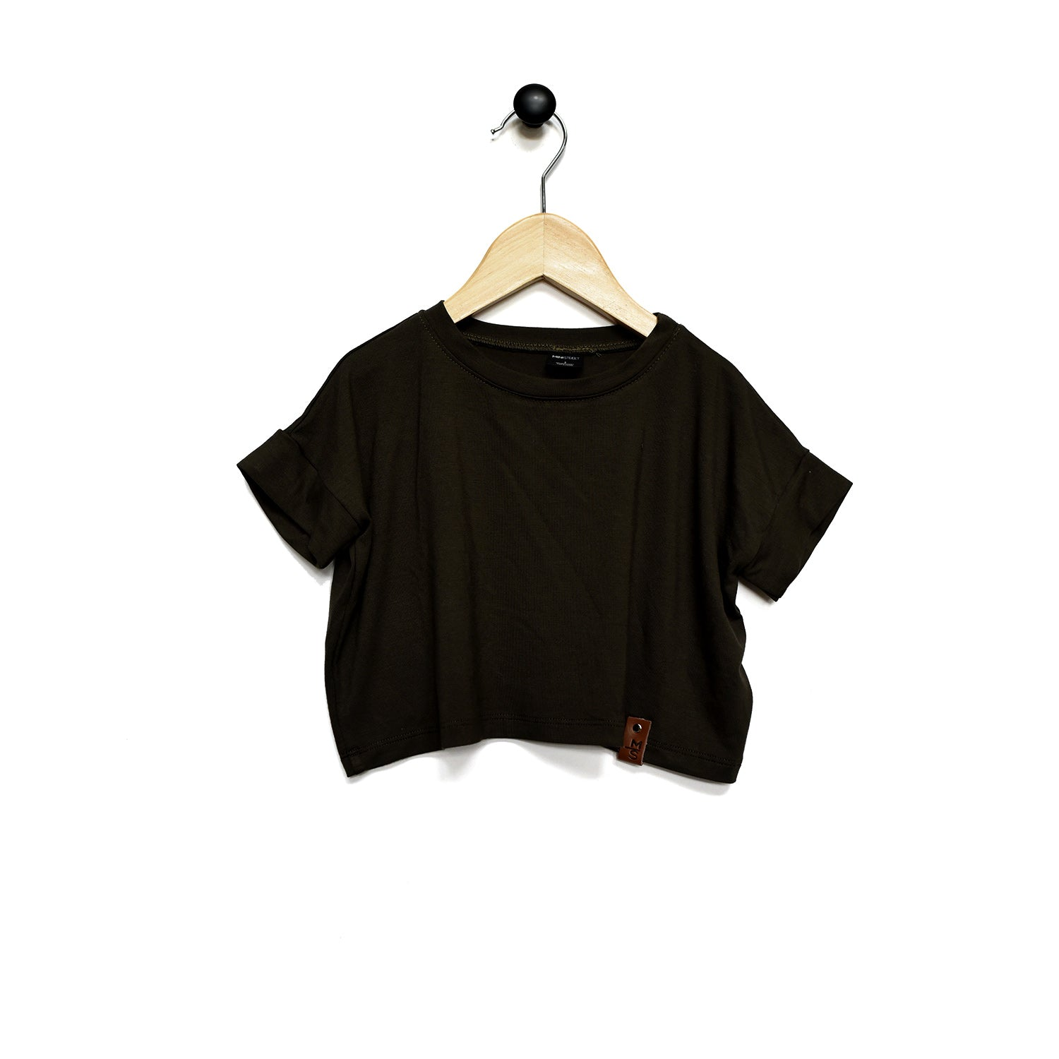 Blaire Crop Top - Black Rib