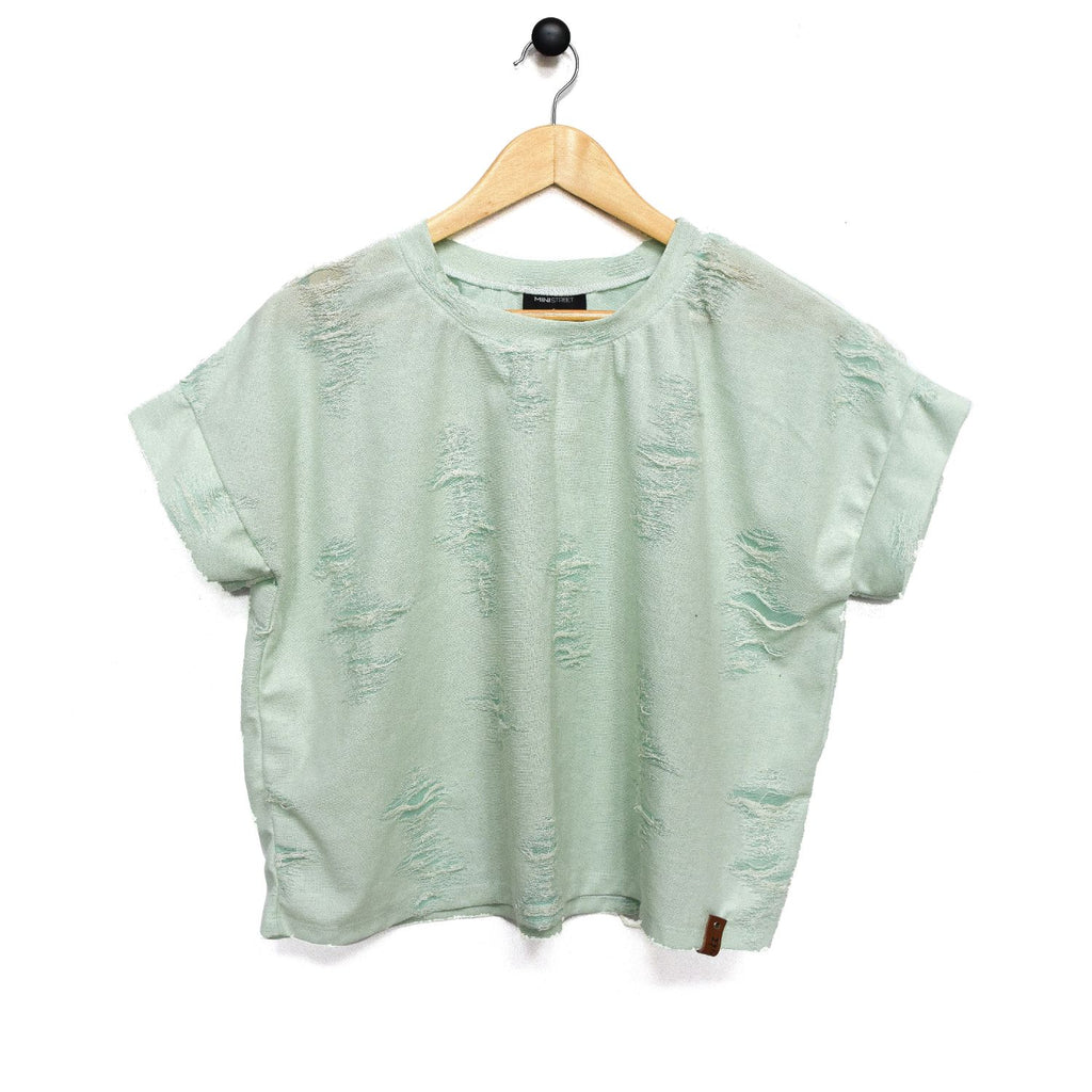 Blaire Women's Top - Distressed Mint