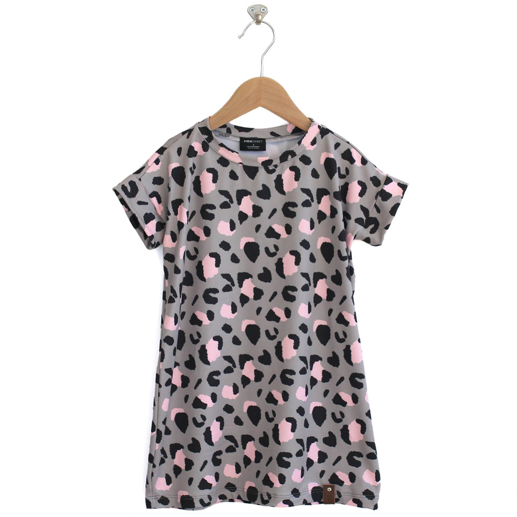 Bree Tee Dress - Leopard