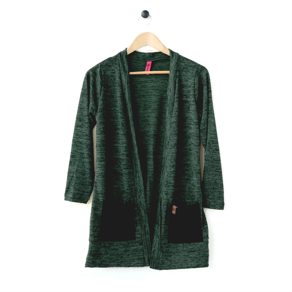 Brook Womens Cardigan - Evergreen