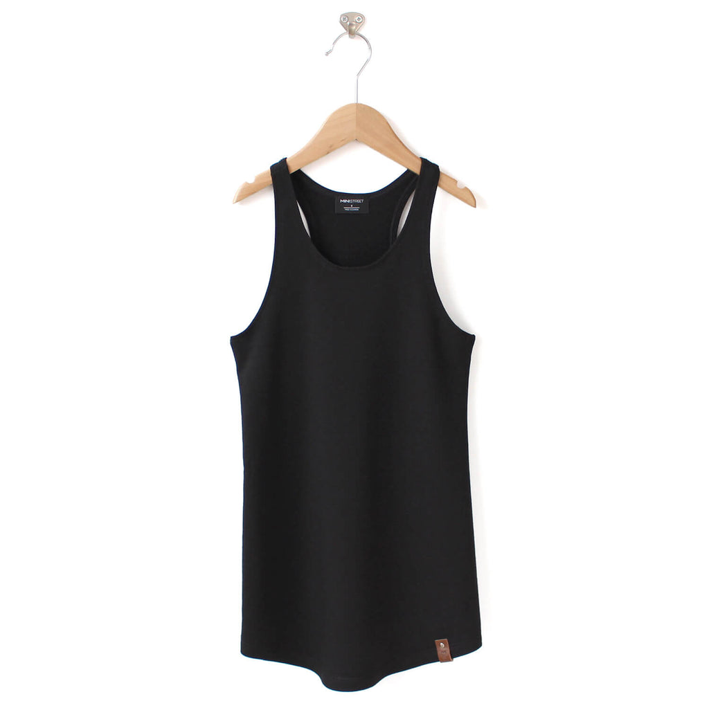 Brooke Racerback Tank Dress - Black