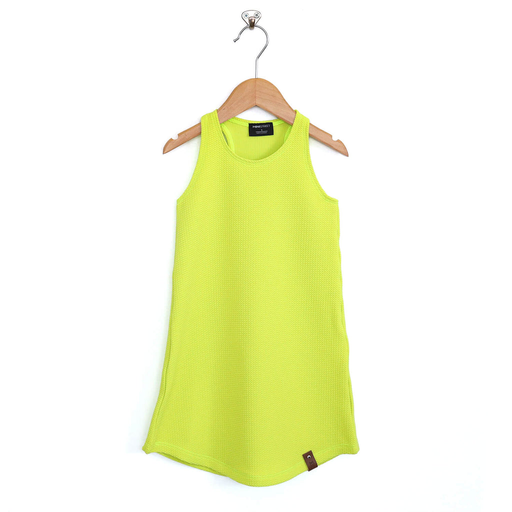 Brooke Racerback Tank Dress - Chartreuse