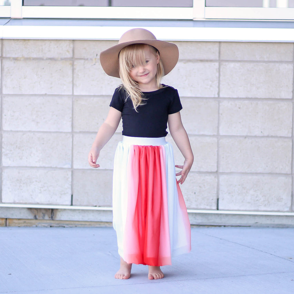 Chelsea Maxi Skirt - Red Papaya