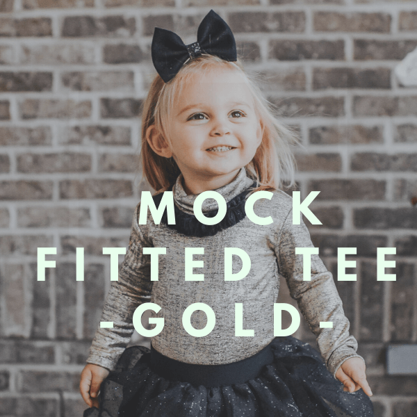 Marin Mock Fitted Tee - Gold