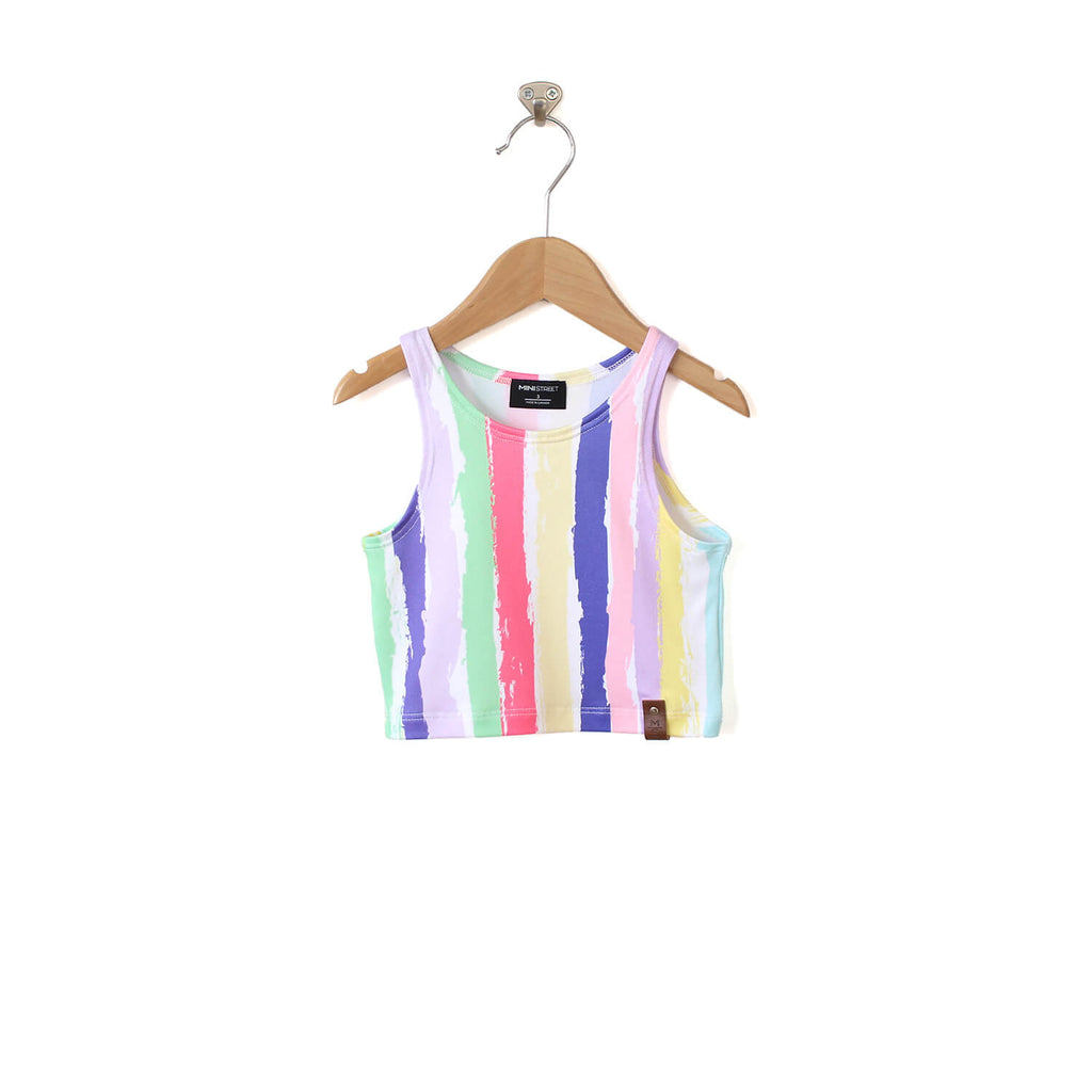 Miley Crop Tank - Rainbow