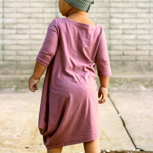 Pink/purple asymetric dress by Mini Street for girls