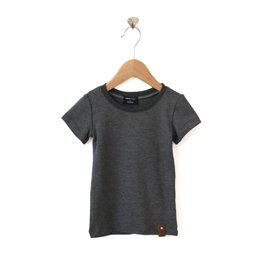 Mae Fitted Tee - Heather Grey