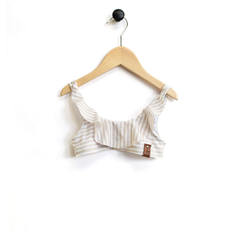 Ariana Flutter Swim Top - Beach Stripe