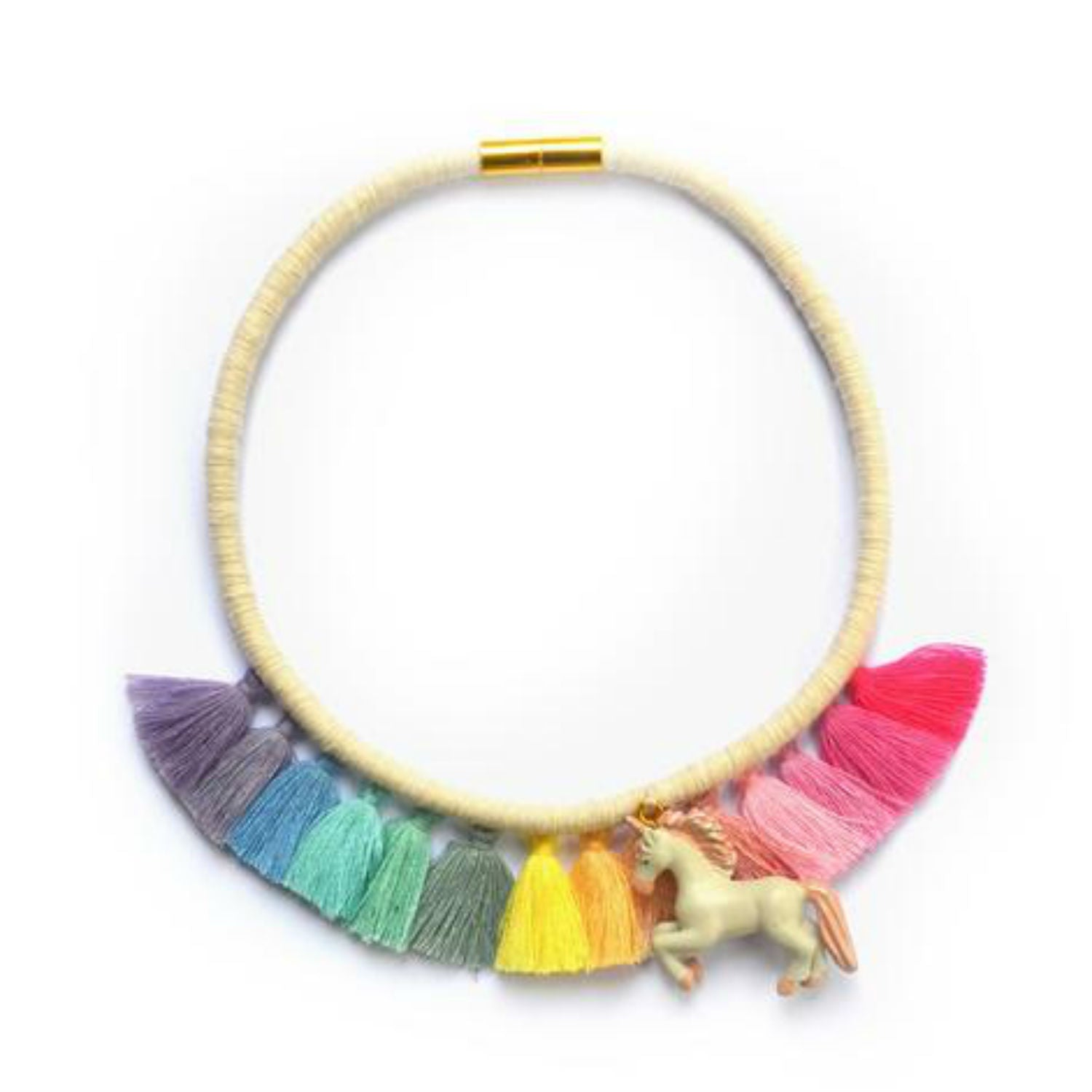 G+F Tassel Necklace - Rainbow