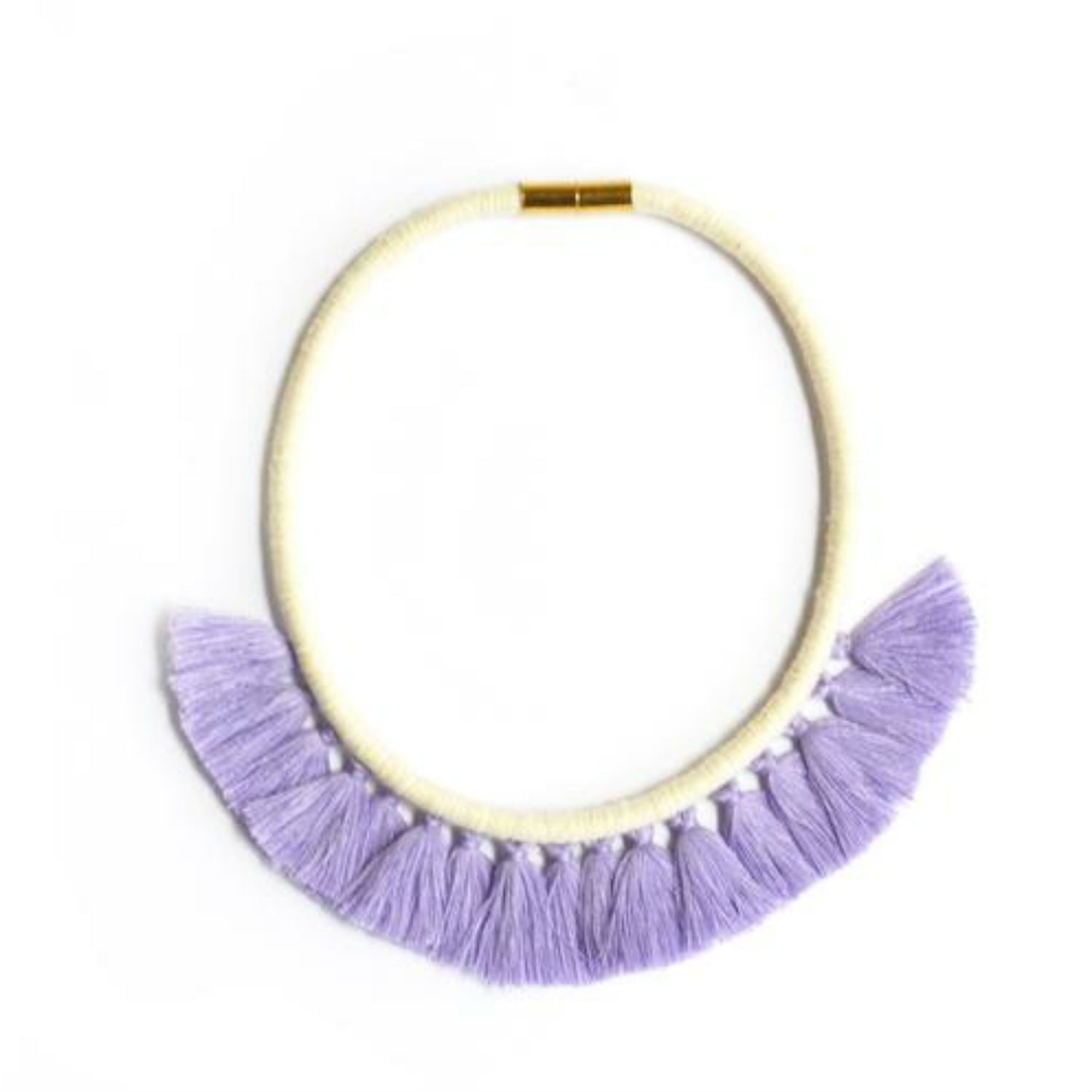 G+F Tassel Necklace - Lavender
