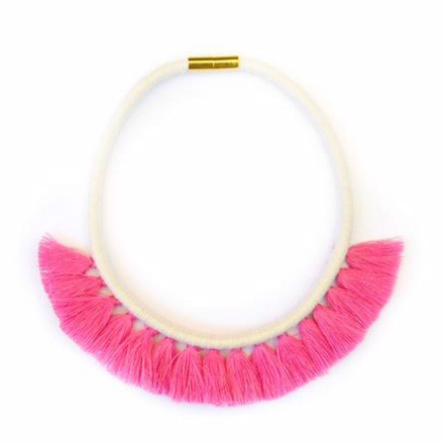 G+F Tassel Necklace - Fushia