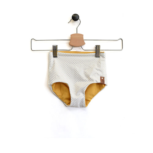 Kylie Swim High Waisted Reversible Bottoms - Gold Dot