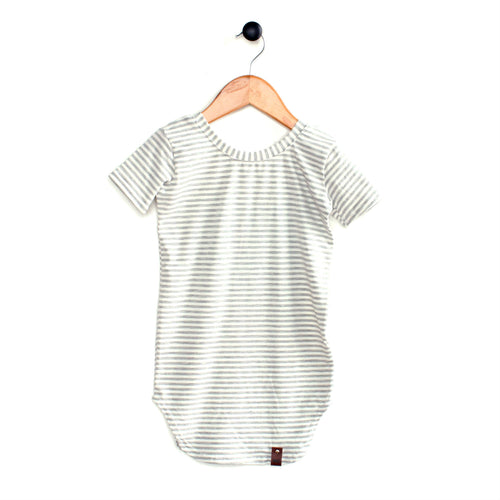 Harper Dress - Grey Stripes