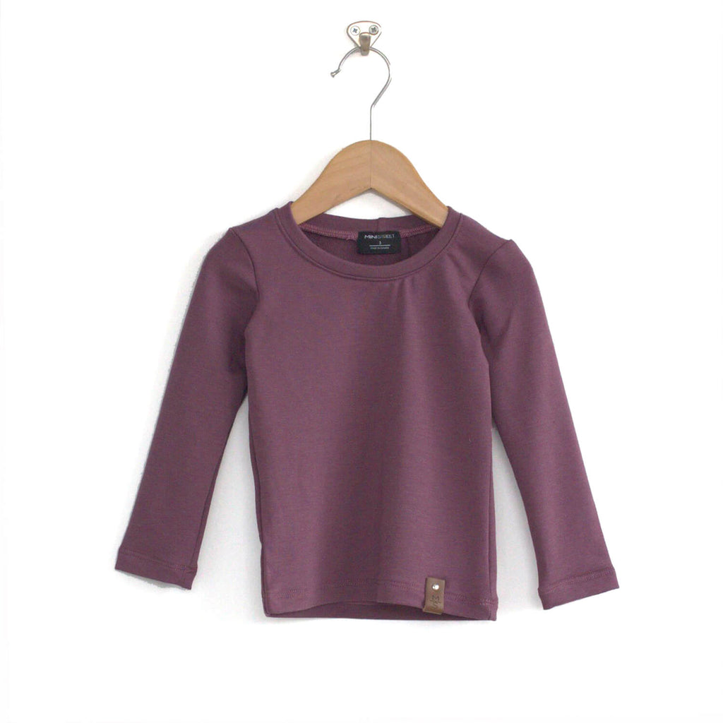 Mila Fitted Long Tee - Lilac