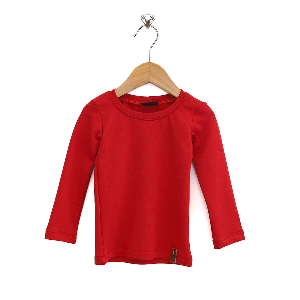 Mila Fitted Long Tee - Crimson