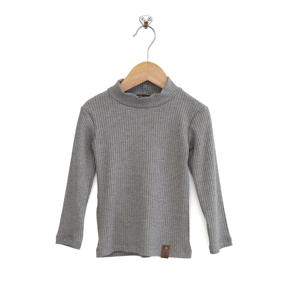 Marin Mock Fitted Tee - Grey Rib
