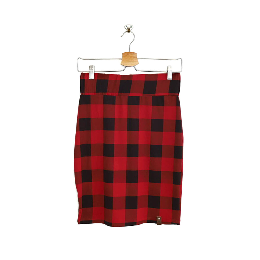 Sienna Women's Pencil Skirt - Buffalo Plaid