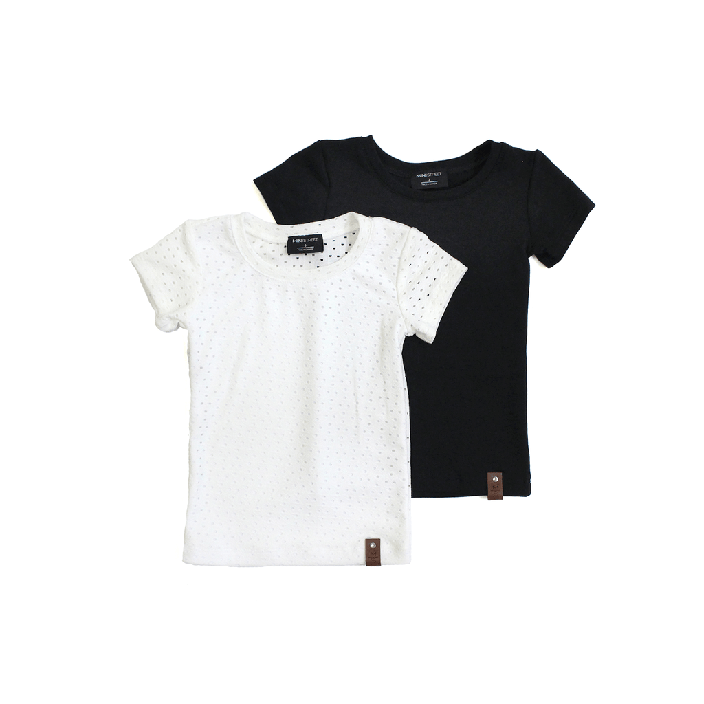 Mae Fitted Tee - White eyelet